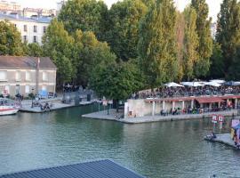 Quai de la Seine, hotel near Porte de la Villette Metro Station, Paris