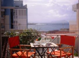 Sunny Sea-View Apartment in Halepa, pet-friendly hotel in Chania Town