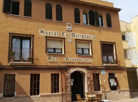 Hostal Restaurante La Diligencia, guest house in Cunit