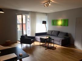 21st Appartement, viešbutis Diuseldorfe, netoliese – Miesto vartai