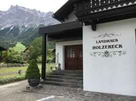 Landhaus Holzereck, self catering accommodation in Ehrwald