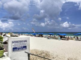 100 now open beach Ft Lauderdale located in resort, large corner unit partial ocean view, serviced apartment in Fort Lauderdale