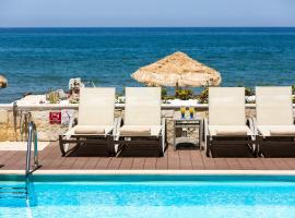 Iris, Luxury Beach Front Residence, hotel with pools in Rethymno Town