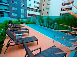 Upper pool Apartment in Pardo, Miraflores., accessible hotel in Lima