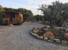 roulotte, campground in Cournonterral
