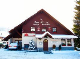 Pension Ploc, hotel poblíž významného místa Skokanské můstky Harrachov, Harrachov