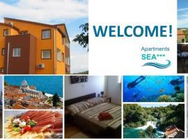 Apartments Sea/Boris, appartamento a Bilice (Bilizze)