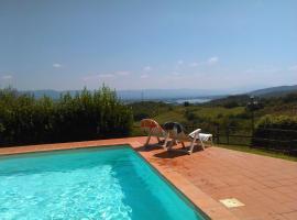 Panoramico con piscina vicino circuito Mugello, hotel in Barberino di Mugello