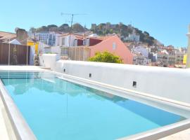 RH AURA 19, Swimming Pool, Terrace & View, hotel with pools in Lisbon