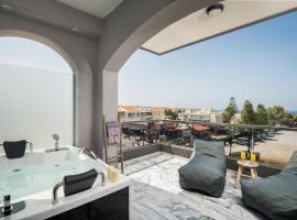 Sun Ray Luxury Apartments, serviced apartment in Agia Marina Nea Kydonias