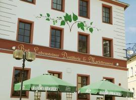 Hotel Marktbrauerei, Hotel in Bad Lobenstein