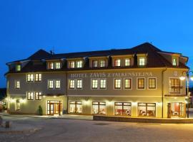 Záviš z Falkenštejna, hotel in Hluboká nad Vltavou