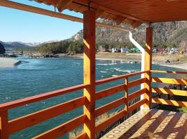 Apartments on river Katun`, hotel with pools in Manzherok