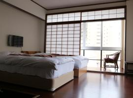 Izu 4 sea ocean reinforced con Double bed + single bed 2 sea view (room、熱海市のホテル