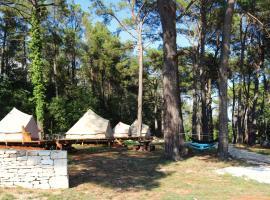 Camp 'Dvor' bell tent accommodation, hotel in Manjadvorci
