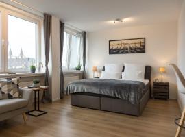 Business Apartment mit Blick auf die Skyline von Essen, accessible hotel in Essen