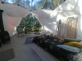 Aurora Canvas Dome, luxury tent in Alta