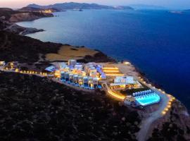 Milos Cove, hotel near Sulphur Mine, Komia