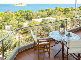 Serenity villa-2nd floor-Sea view-sandy beach 250m away., hotel in Porto Rafti