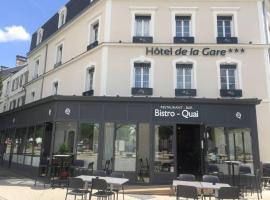 Hôtel de la Gare - Restaurant Bistro Quai、ラ・ロッシュ・シュル・ヨンのホテル