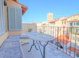 UNIQUE : Duplex & Terrace on the Provencal market, pet-friendly hotel in Antibes