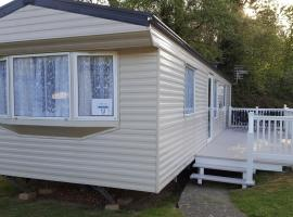 Lower Hyde Caravan, glamping site in Shanklin