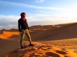 Camel Trek Erg Chebbi & Sandboarding, campground in Merzouga