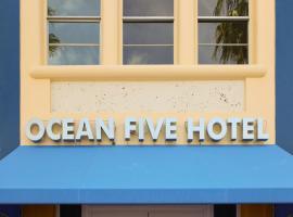 Ocean Five Studios, hotel perto de South Pointe Park, Miami Beach