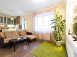 Luxury apartment in red whale, hotel near Kva-Kva park, aquapark, Mytishchi