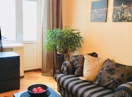 Apartment on Frunzenskaya 48, hotel near Vorobyovy Gory Metro Station, Moscow