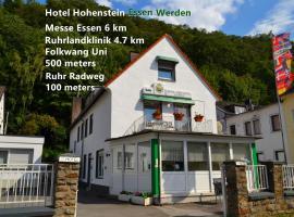 Hotel Hohenstein -Radweg-Messe-Baldeneysee, hotel near Basilica St. Ludgerus, Essen