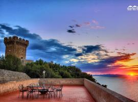 Castello di Populonia VILLA A MARE, hotel in zona Golfo di Baratti, Populonia