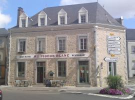 Au Pigeon Blanc、アンドゥイエのホテル