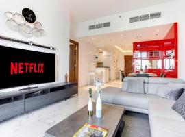 ★ Exclusive Flat with Canal Views in Al Habtoor, budget hotel in Dubai