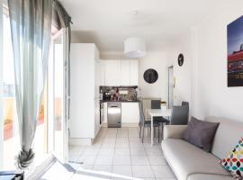 La Terrazza sul Mare di Roma, 2+3, WiFi, AC, διαμέρισμα στο Λίντο ντι Όστια
