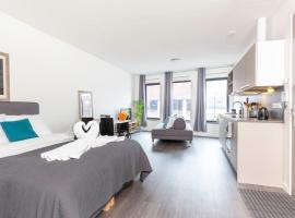 Retreat to quite newly build apt center Delft, apartment in Delft