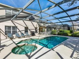 5 BR Emerald Island Villa Mins from Disney, South Facing Pool, Huge Corner Lot!, cottage in Kissimmee