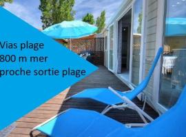 mobilhome 500m mer camping LA CARABASSE, campground in Vias