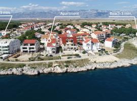 Sky-apartment, family hotel in Povljana