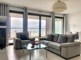 Great apartment for confinement escape -seaview & big park, hotel in Nice