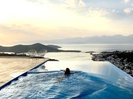 Villa Estée, luxury villa with private infinity pool, hotel with pools in Elounda
