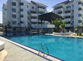 8-9 pax Homelite resort - Near Airport, apartment in Miri