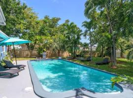 Tropical House 3 Bedrooms with Pool Oakland Park, villa in Fort Lauderdale