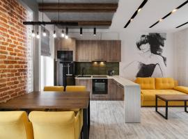 LOFT apartment on Lychakivska street: Lviv'de bir daire
