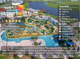 F - New 4 Bedroom Home - 5 Miles to Disney - Free Water Park - Private Pool, hotel in Kissimmee
