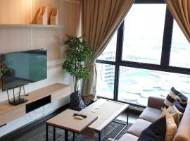 V residence suite 2-4 pax - mrt-wifi-link mall 吉隆玻双威伟乐高级公寓, accessible hotel in Kuala Lumpur