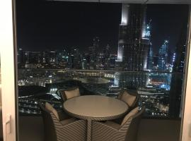 2 Bedroom with Full Burj View, hotel near Seawings Dubai Creek, Dubai