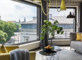 Modern View of Planty Park, hotel in Krakow