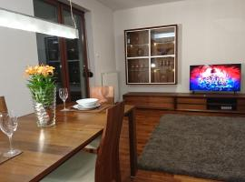 Quiet and spacious apartment with garage option, hotel in Kraków