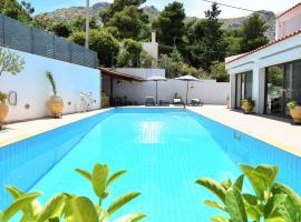Villa PALAZZO DEL MARE with pool near the sea., hotel in Sounio